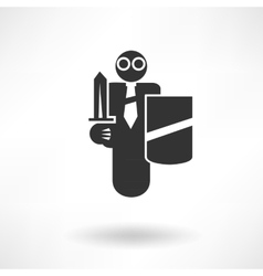Security Guard Icon vector image vector image