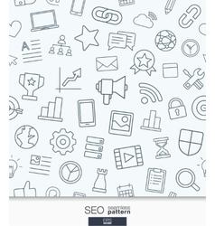 SEO wallpaper Black and white marketing seamless vector image vector image