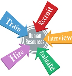 Human Resources HR arrows target vector image vector image