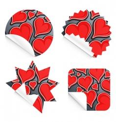 valentine stickers vector image vector image