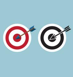 Dartboard with arrow icon symbol vector