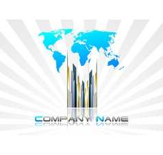 EPS Business card vector image