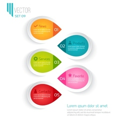 Five colored elements for infographic vector image vector image