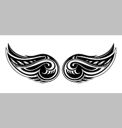 Tribal wings design vector image