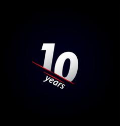 10 years anniversary celebration black and white vector