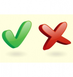 3D checkmarks icon vector image