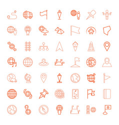 49 map icons vector image