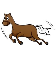 A horse running vector image