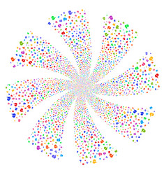 About fireworks swirl rotation vector
