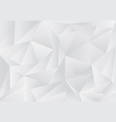 abstract gray and white low polygon or triangles vector image
