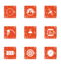 Alternate source icons set grunge style vector