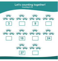 American independence day counting game for presch vector