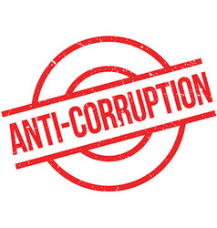 Anti-Corruption rubber stamp vector