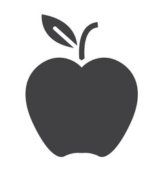 apple solid icon food and fruit graphics vector image