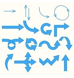 Arrows blue line vector