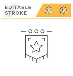 award flag line icon vector image