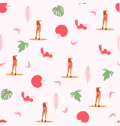 beach summer vacation seamless pattern vector image
