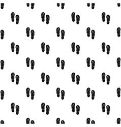 Beach thongs pattern simple style vector