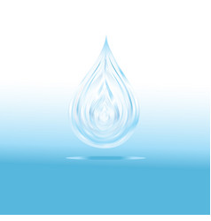 bright transparent isolated blue water drop vector image