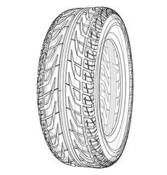 Car tire concept rendering of 3d vector