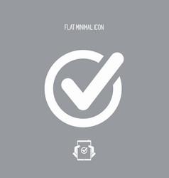 check - flat minimal icon vector image