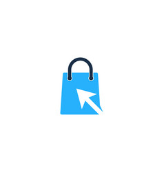 click shopping logo icon design vector image