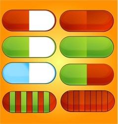 colored and shiny medic pills set vector image