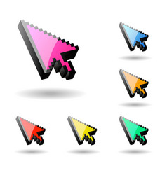 Colored cursor mouse computer pointer vector