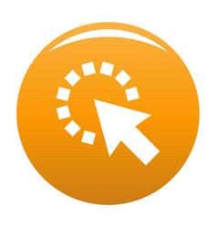 Cursor pixel icon orange vector