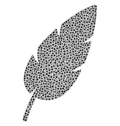 Feather collage of small circles vector