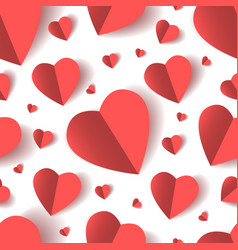 folded paper hearts seamless pattern vector image
