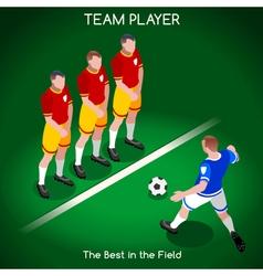 Football 02 People Isometric vector image vector image