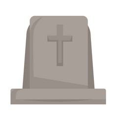 gravestone or tombstone with cross isolated grave vector image