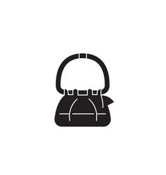 hand bag black concept icon hand bag flat vector image