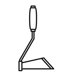 Hand garden dig tool icon outline style vector