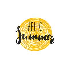 Hello summer inspirational 5 vector
