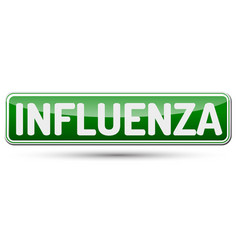 influenza - abstract beautiful button with text vector image