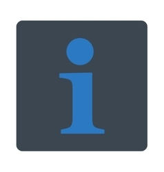 Info flat smooth blue colors rounded button vector