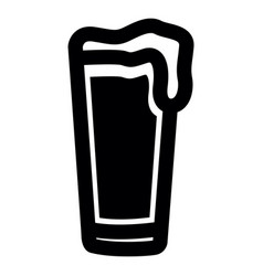 isolated beer icon vector image