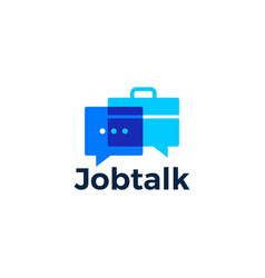 job talk chat bubble logo icon vector image