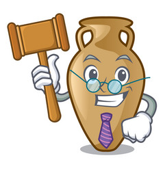 judge amphora mascot cartoon style vector image