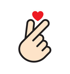 korean finger heart vector image