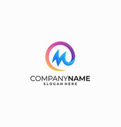 letter m color concept design template vector image