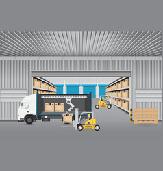 logistics transportation vector image