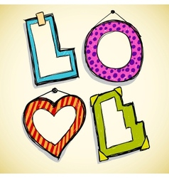 Love frames vector image