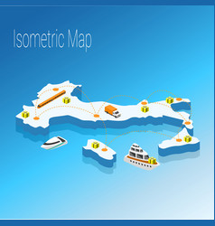 Map italy isometric concept vector