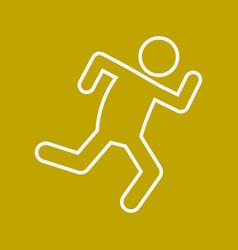 Marathon run outline sport figure symbol graphic vector