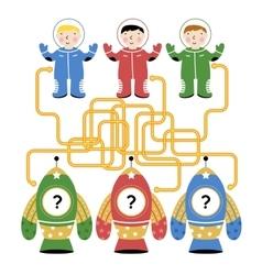 Maze Logic Game for Kids vector image