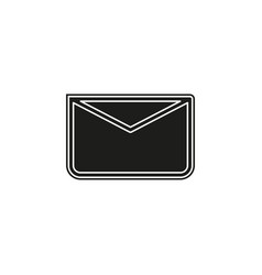 message icon envelope - mail icon send letter vector image