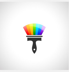 Paintbrush made color spectrum vector